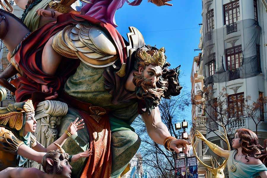 The Fallas, declared Intangible Cultural Heritage of Humanity by UNESCO in 2016