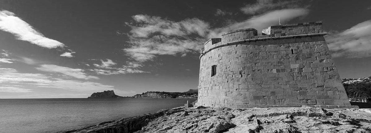 Aspecto del Castillo de Moraira